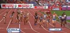The Ending Of The Women's 4×400 Championship Will Give You Chills