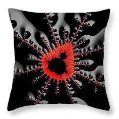 Throw pillow - modern mandelbrot fractal art black and red. All throw pillows… Fractal Art, Fractals, Mandelbrot Fractal, Funny Pillows, Red Throw Pillows, Pillow Sale, Perfect Pillow, Poplin Fabric, Gift Guide