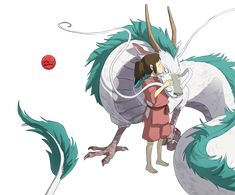Image result for haku spirited away png
