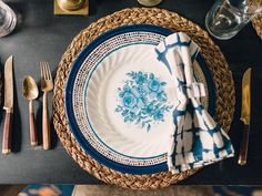 Layer Shades of the Same Color - Create a Vintage-Style, Mismatched Tablescape on HGTV