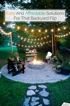 Landscaping Backyard Ideas Firepit Lights 26 Ideas For 2019 Landschaftsbau Hinterhof Ideen Firepit L Fire Pit Area, Fire Pit Backyard, Backyard Patio, Backyard Landscaping, Backyard Seating, Diy Patio, Diy Pool, Rustic Backyard, Outdoor Seating