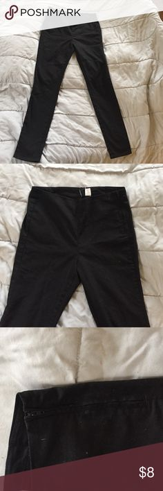 High waisted side zipper pant High waisted dived brand by H&M side zipper black skinny pants Divided Pants Skinny