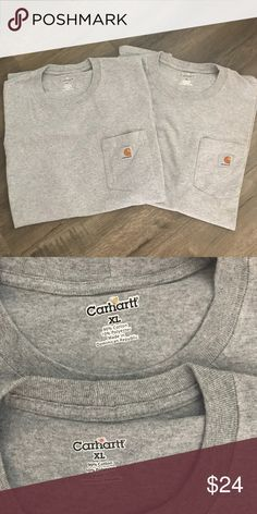 CARHARTT Men's T-Shirt CARHARTT Men's T-Shirt    Bundle of 2 Gray Carhartt Shirts Pocket Shirts  Size XL  Excellent condition - No rips - No stains  POSH AMBASSADOR & HOST PICK SELLER   Happy Poshing 😊 Carhartt Shirts Tees - Short Sleeve