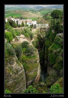 The cliffs of Ronda, Spain. The town named after me ;)