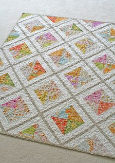Would be a fun and easy quilt to make. Would work well with large-scale pints too!