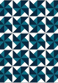 """Adesivo para azulejo """"cata-vento azul"""""""