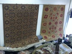 Who has noticed all of the rugs on the walls?! What a difference it makes in the showroom.