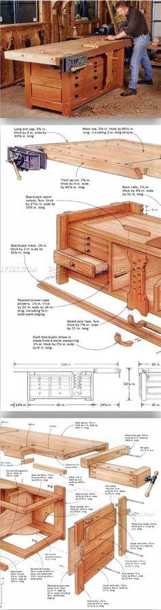 Rock-Solid Workbench Plans - Workshop Solutions Plans, Tips and Tricks | WoodArchivist.com #woodworkingtools