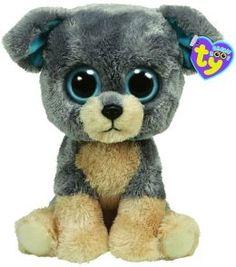 Scraps, Ty Beanie Boos dog, reference information and photograph. Ty Beanie Boos, Beanie Boo Party, Beanie Boo Dogs, Ty Boos, Rare Beanie Babies, Beanie Bears, Ty Animals, Plush Animals, Big Eyed Stuffed Animals