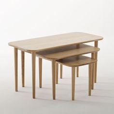 La Redoute Interieurs - Table basse carrée, chêne massif, Crueso | La Redoute