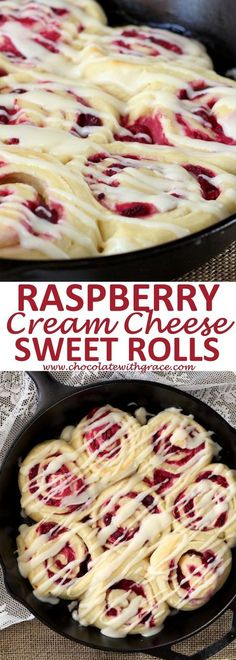 Raspberry Cream Cheese Sweet Rolls - CUCINA DE YUNG