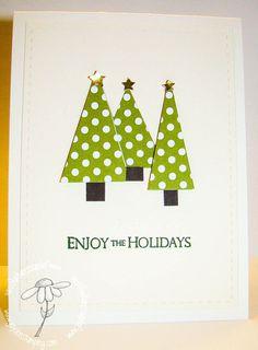 Dotty Christmas Trees