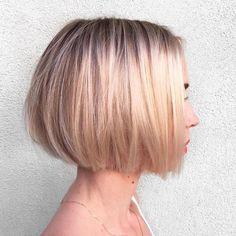Easy Short Bob Hairstyles for Summer, Women Short Haircut - Frisuren Bob Haircut For Fine Hair, Bob Hairstyles For Fine Hair, Short Bob Haircuts, Summer Hairstyles, Easy Hairstyles, Girl Hairstyles, Hairstyles 2018, Brunette Hairstyles, Black Hairstyles