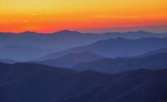 autumn sunset scenes/cerulean blue | Photo I took of a Blue Ridge Mountain Sunset last Fall ( i.imgur.com )
