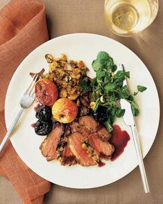 Roast Duck Breasts With Pomegranate-Chile Sauce Recipe — Dishmaps