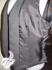 Voilà le tuto d'un gilet pour homme ! Découvrez sur mon site les étapes de la confection de mon premier gilet pour costume 3 pièces pour Monsieur.