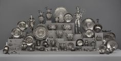 Berthouville Treasure: Accidentally discovered by a French farmer plowing his field near the village of Berthouville in rural Normandy in 1830, the spectacular hoard of gilt-silver statuettes and vessels known as the Berthouville Treasure was an ancient offering to the Gallo-Roman god Mercury.