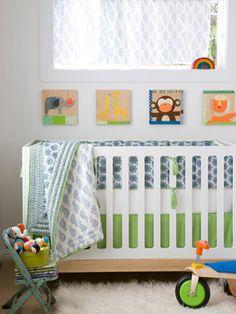 Definitely into the white furniture. Plus I love the paintings    Shabby Chic Nurseries - Nursery Ideas - Slideshow