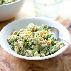 Spring Recipe:  Grain Salad with Mango, Sprouts & Creamy Avocado Dressing    Recipes from The Kitchn