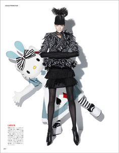 Hello Kitty and Ai Tominaga shot by Tibi Clenci l #fashion #VogueJapan #HelloKitty