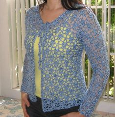Ravelry: Lacy Top Cardigan pattern by Doris Chan