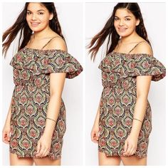 ASOS Curve playsuit/romper. Size US 14. New ASOS Curve playsuit/romper. This is not a dress. It's a romper. Size US 14. New ever worn. ASOS Dresses Mini