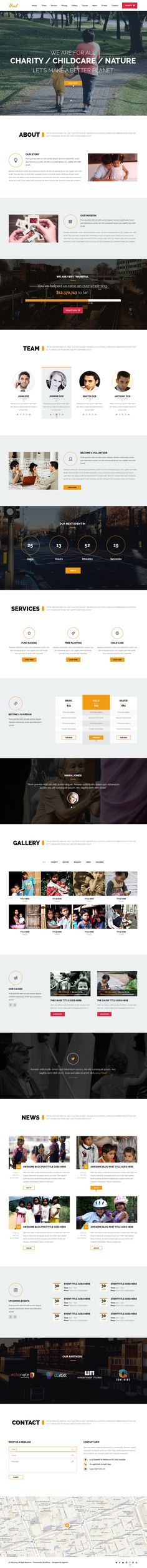 Heal is a New Premium Non-profit Charity #WordPress Theme that can be used to build a gorgeous website for an #NGO or #Charity foundation project.