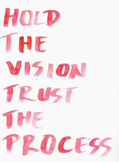Hold the vision trust the process inspirational quote word art print motivational poster black white motivationmonday minimalist shabby chic fashion inspo typographic wall decor