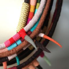 Image result for textile jewellery