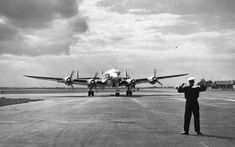 Lockheed Constellation 1943 856  Distinctive triple-tailed airliner, it was used during the Berlin Airlift and was the presidential aircraft of Eisenhower. Other major customers were BOAC, Qantas, Lufthansa, Aer Lingus, TWA, Pan Am, Eastern and Air France.