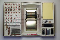 Superior Cub Rotary Printing Press box open