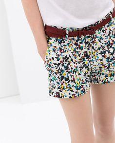 GEOMETRIC PRINT SHORTS from Zara - love these!