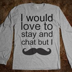 I mustache
