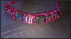 Bracelet effet Burberry rose
