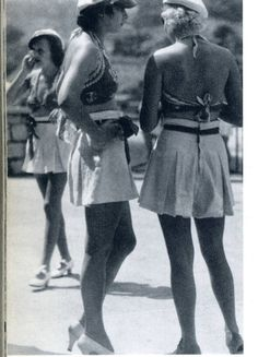 1930s summer shorts & heels. Photo by Jacques-Henri Lartigue (French, 1894-1986)