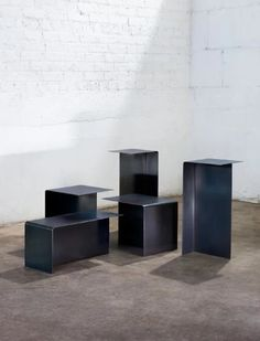 The T Table Collection is a minimal collection of tables created by Chicago-based designer Christopher Gentner with multi-dimensional surfaces that adapt and evolve with the users' needs. Bespoke Furniture, Contemporary Furniture, Furniture Design, Stainless Steel Furniture, Stainless Steel Types, Table Sizes, Coffee Table Design, Cafe Design, Decoration
