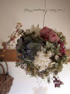 ボールリースNO.4 - ドライフラワーリース&アレンジ | Dried Flower Arrangement ''Peony'' ピオニー