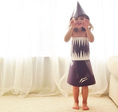 A shark dress inspired by this little one's love for Aquariums! Jaw-some.