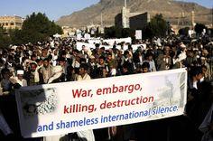 Yemeni innocents protest