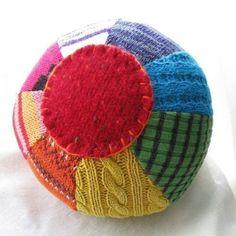 Upcycled wool ball by Handmade Pretties