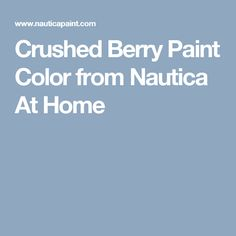 Crushed Berry Paint Color from Nautica At Home
