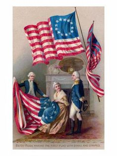 Betsy Ross (January 1, 1752 – January 30, 1836), born Elizabeth Griscom and briefly known by her second and third married names Elizabeth Ashburn and Elizabeth Claypoole, is widely credited with making the first American flag. There is, however, no credible historical evidence that the story is true.