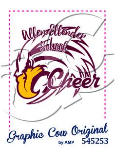 high school cheer eagle mascot k12 #grafcow