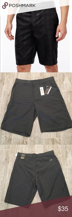 NWT Greg Norman moister wicking shorts - size 33 Get ready to hit the course in comfort with these moister wicking plaid golf shorts.  Perfect for everyday or when playing golf.  Machine washable.  100% polyester.  33 waist. Greg Norman  Shorts Athletic