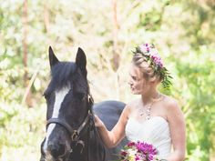 Whimsical Forest - Midsummer Nights Dream Bridal Inspiration | Amethyst Weddings Floral crown made by Katie Mawson, jewellery handmade by Kim Styles.