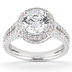 Wow. Such a gorgeous ring! Taryn Collection 18 Karat Diamond Engagement Ring TQD 7768 for about $3,960