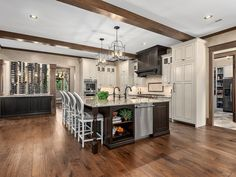 This stunning family home was renovated by Eric Daffron Architect along with Allard + Roberts Interior Design, located in Asheville, North Carolina. Rustic Homes, Asheville, New Life, Home Renovation, North Carolina, Home And Family, Interior Design, Kitchen, House