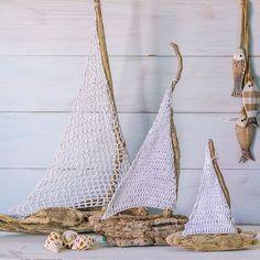 Driftwood and Crochet Sailboats Diy
