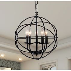 Warehouse of Tiffany Theo 5-Light Candle-Style Chandelier & Reviews | Birch Lane