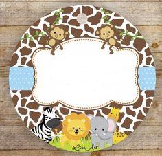 웃♥ ♥ ♥ ♥ ♥ ♥ 웃♥ ♥ ♥ ♥ ♥ ♥ 웃 Tag Safari, Safari Party, Safari Theme, Animal Birthday Cakes, Jungle Theme Birthday, Birthday Party Themes, Kids Background, Baby Shower Invitaciones, Kids Stickers